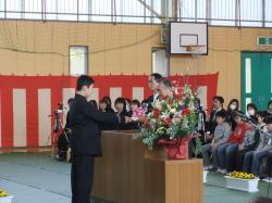 小学校卒業式2