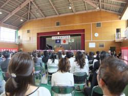 関城西小入学式3