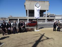 時計塔の贈呈式1