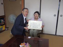 敬老事業に係る高齢者宅訪問2