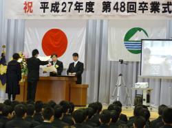 明野中学校卒業式1