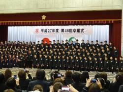 明野中学校卒業式2