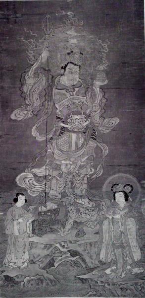 毘沙門天(赤外線撮影画像)