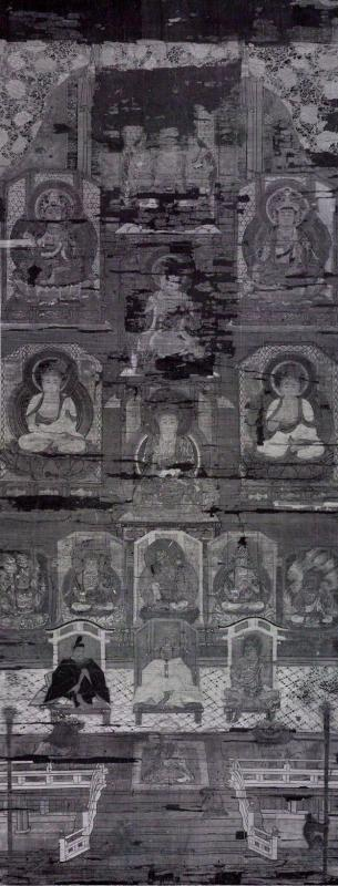 『日吉山王本地仏曼荼羅図(赤外線撮影画像)』の画像