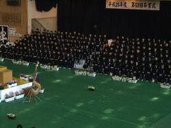 南中卒業式3