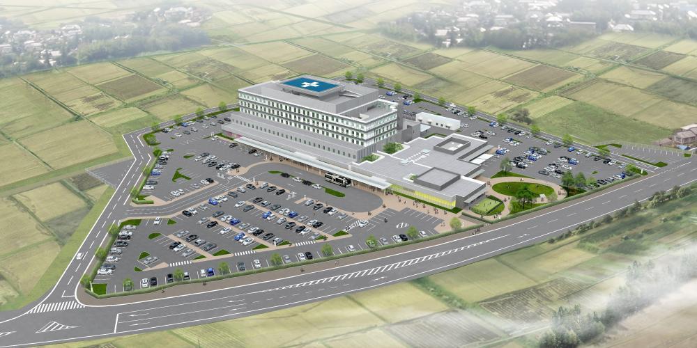 『病院パース図』の画像