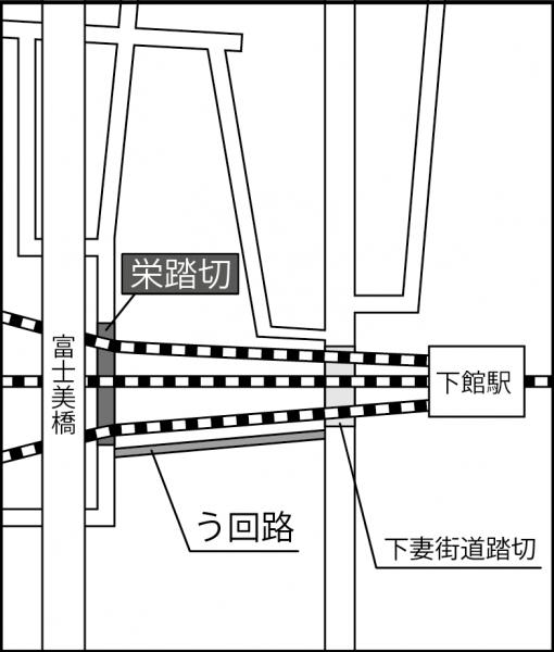 『栄踏切』の画像