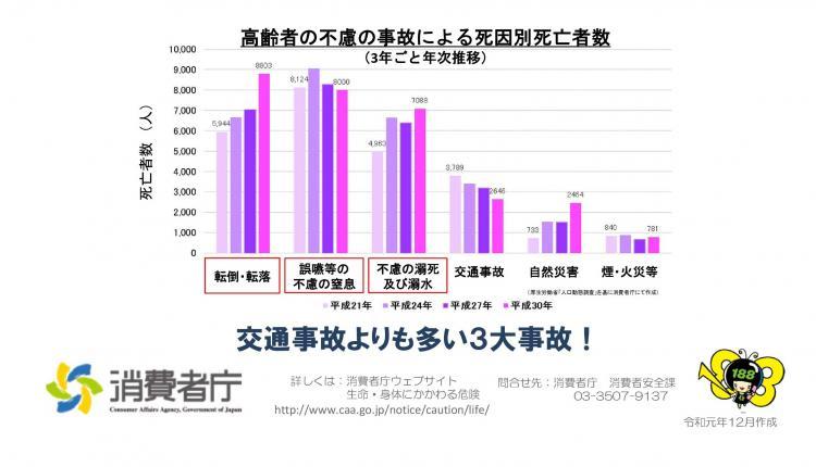 『みんなで防ごう高齢者の事故 グラフ』の画像