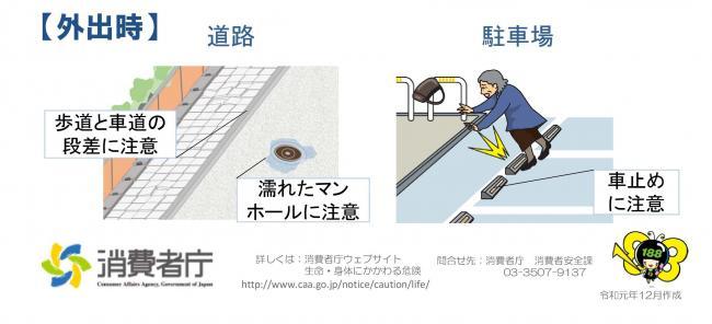 『みんなで防ごう高齢者の事故 外出時』の画像