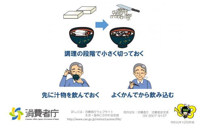 『お餅による窒息事故を防ぐために』の画像