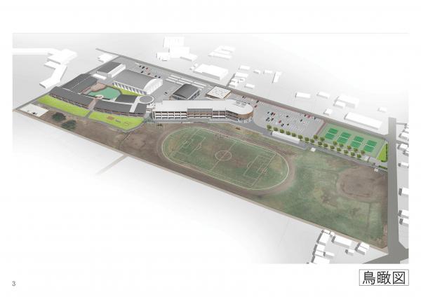 『明野地区義務教育学校整備事業鳥観図』の画像