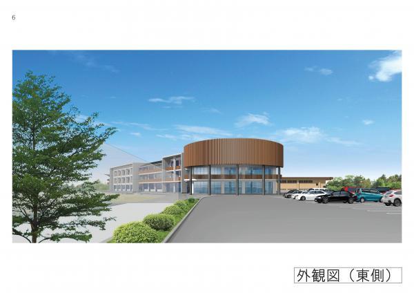 『明野地区義務教育学校外観パース(東側)』の画像