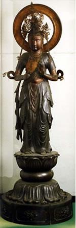 青銅聖観世音菩薩立像(せいどうしょうかんぜおんぼさつりゅうぞう)