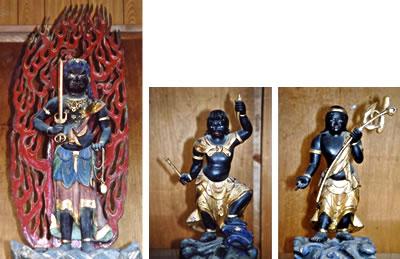 木造不動明王及び二童子立像